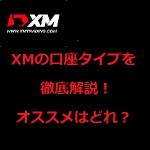 XM(XMTrading)の3種類の口座タイプの違いを徹底解説!口座タイプ選びに迷ったら見て!